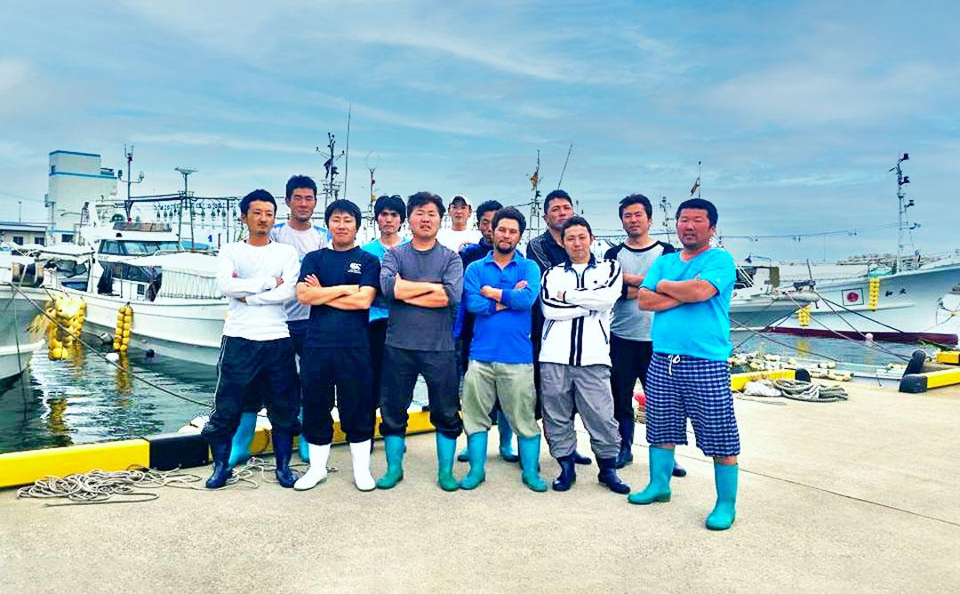 玄界灘漁師会の漁師たち